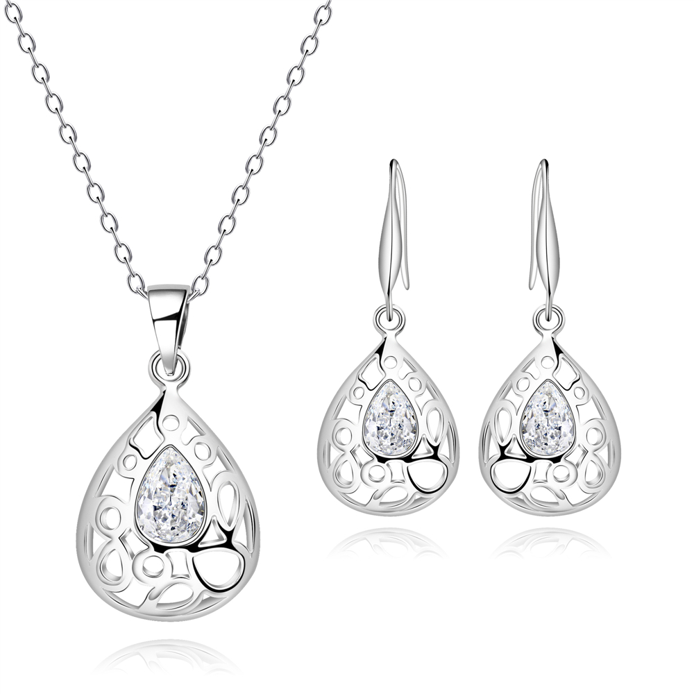Fashion Silver Color Water Drop Jewelry Sets Exquisite
