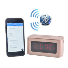 Light Luminous Electronic Digital Led Alarm Clock With Wireless Bluetooth Speaker Music Sound Box Support Handsfree Call TF Card