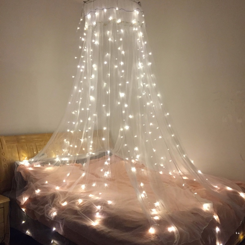 1x2M 90LED Starry Icicle Fairy Lights For Wedding Bedroom Garden Patio Christmas Outdoor Indoor Garland Decorations Home Decor