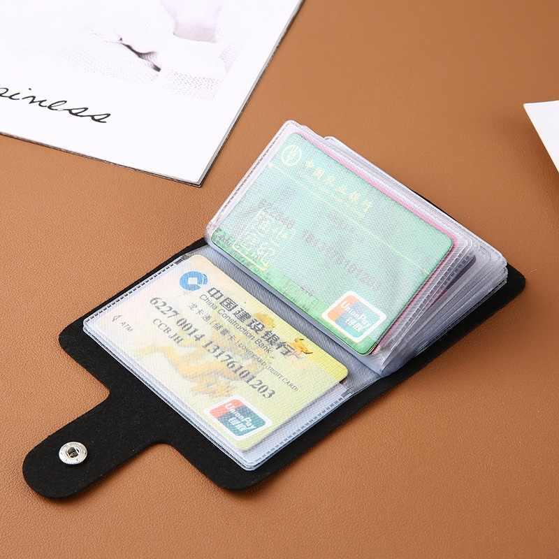 Baru PU Kulit Fungsi 24 Bit Kartu Case Pemegang Kartu Pria Wanita Kredit Paspor Tas Kartu ID Paspor Kartu dompet H088