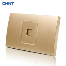 цена CHINT Electric 118 Type Telephone Wire Wall Socket NEW5D Steel Frame A Telephone Socket Panel онлайн в 2017 году