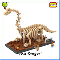 Mr.Froger LOZ Diamond Blocks Brachiosaurus Dinosaurs Fosil Building Blocks Dinosaur Fossil Skull Toys Animal Model Kids Gifts