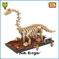 Mr. froger loz diamond bloques bloques de construcción fósil dinosaurios dinosaurio brachiosaurus cráneo fósil modelo animal juguetes regalos de los niños