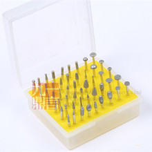 50pcs/set/lot diamond mounted point burrs for grinding polishing carving free shipping