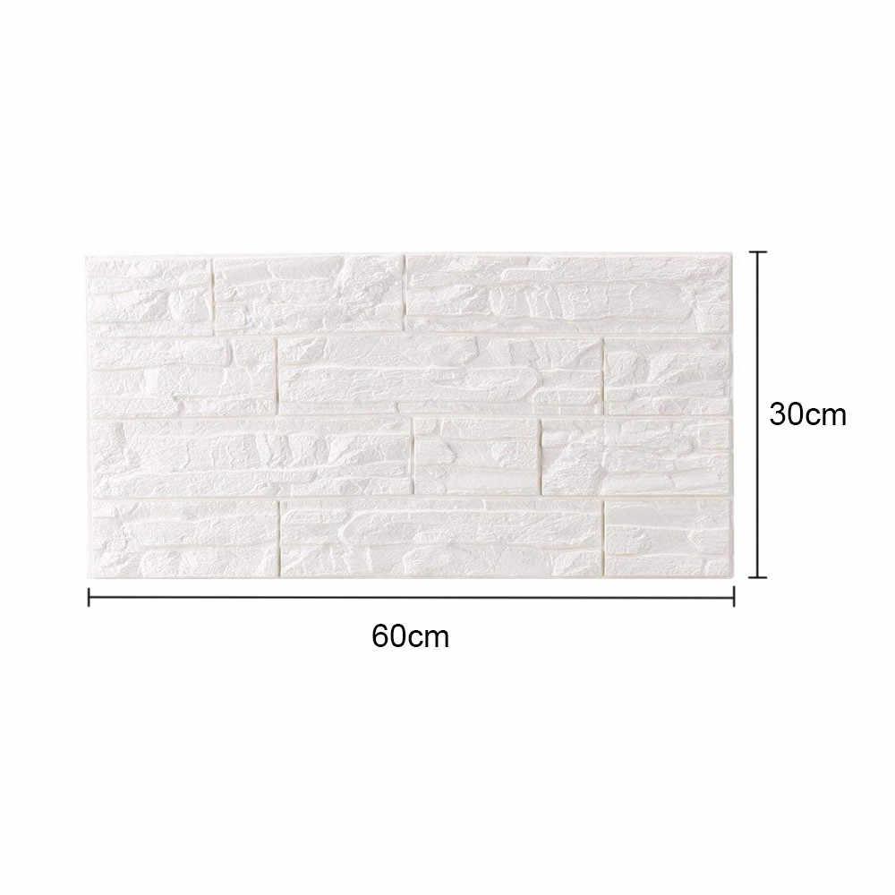 60cm x 30cm 3D Brique PE Mousse Mur Autocollant Maison Sticker mural bricolage Panneaux Chambre Autocollant Décoration En Pierre de Mur En Relief Affiche Autocollante