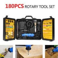 Oplaadbare 180 stks Rotary Power Tool Set Elektrische Boor Grinder Graveur Sander Polijstmachine Craving DIY Power Tools Accessorie