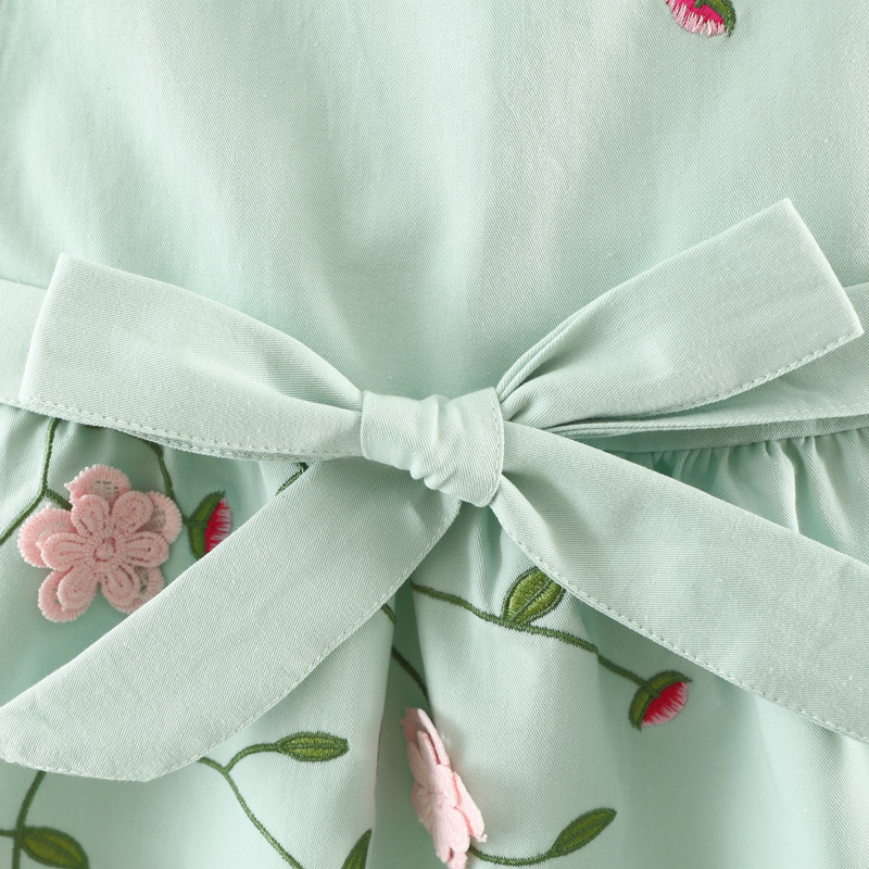 54e09c67524 2017 Baby Girls Dress Autumn 0 3 Year Embroidery 3D Flowers Princess Girl  Dresses Ruffle Collar 2 Pieces Clothing For Children-in Dresses from Mother    Kids ...