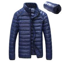 Men's Winter Jacket Ultra Light 90% White Duck Down Jackets Casual Portable Winter Coat for Men Plus Size Down Parkas 7 Colors