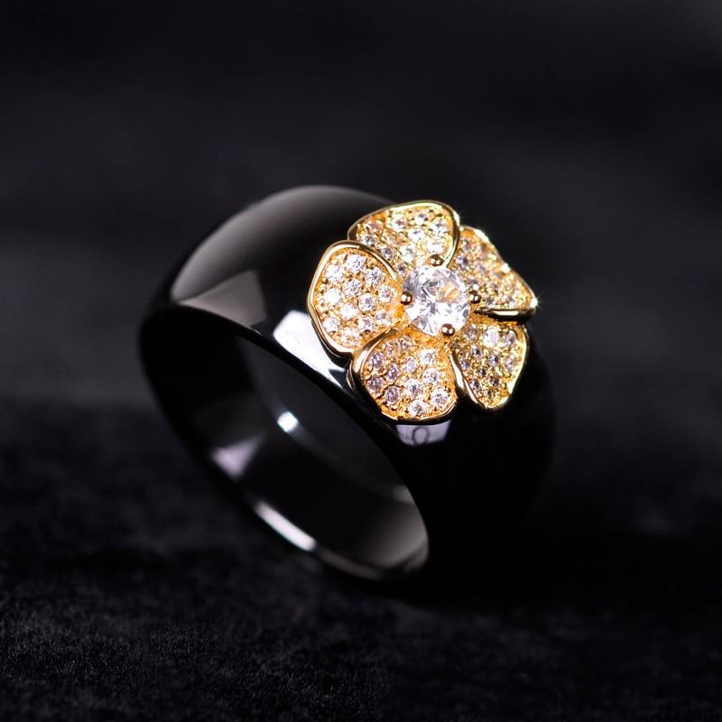 Չինական ոճով սև կլոր ցիրկոնով - Նորաձև զարդեր - Լուսանկար 5