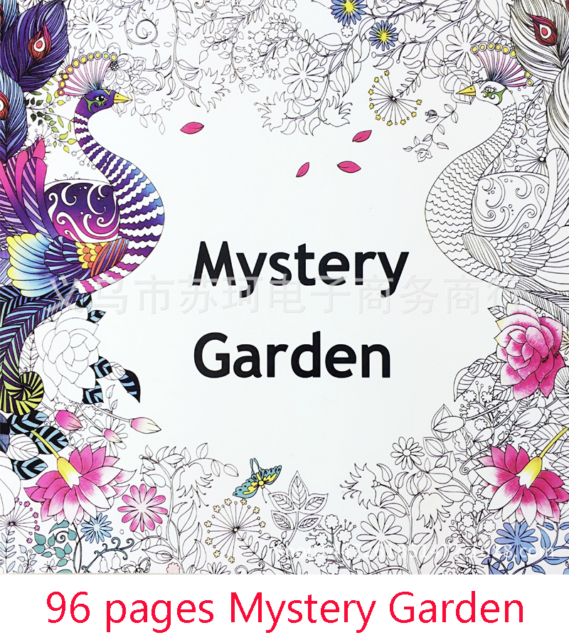 The Secret Garden Mystery Album In English Graffiti Coloring Book Painting Stationery Decompression Books From Office School
