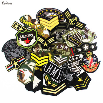 30pcs /Lot Army Military Patches Clothes Embroidered Tactical Badges Iron on Stickers for Jeans Jacket wholesale 50 100 pieces military pvc patches velcro rubber armband 3d tactical badge patches for backpack hat clothes jacket