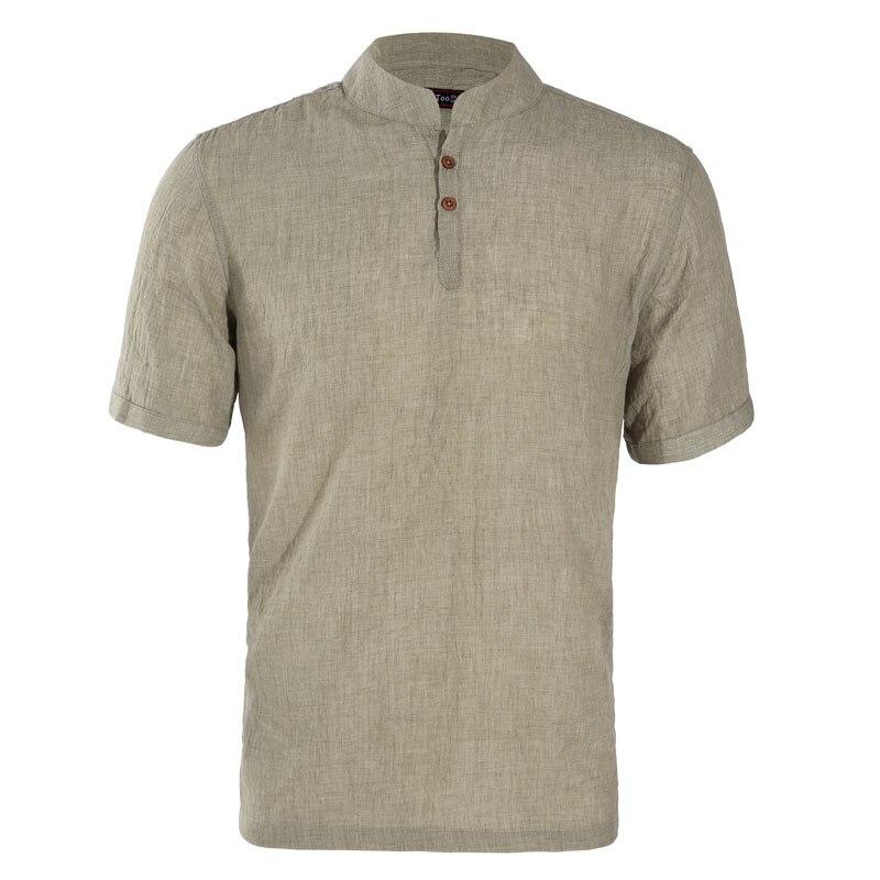 Jeetoo Brand New Men Short Sleeve Shirt Cotton Linen Shirts Men Casual Camisa Masculina Short Sleeve Man Shirt Summer