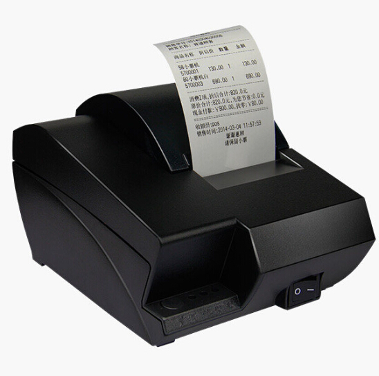 Gprinter restaurant pos 58mm usb receipt printer for supermarket direct thermal printing built-in power supply zj 5890k mini 58mm black and white printer pos receipt thermal printer built in power light with usb port power interface