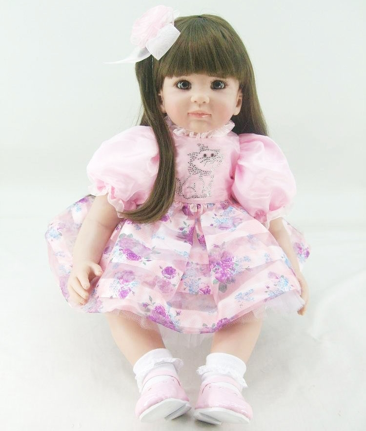 Pursue 24/60 cm Adorable Lifelike Baby Alive Doll Toys Silicone Reborn Silicone Princess Girl Baby Doll Toys for Children Gifts adorable soft cloth body silicone reborn toddler princess girl baby alive doll toys with strap denim skirts pink headband dolls