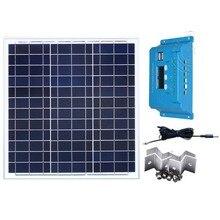 Solar Panel Kit 12v 40w Battery Charger Charge Controller 12v/24v 10A Module Mounting Car Caravan Camp Boat