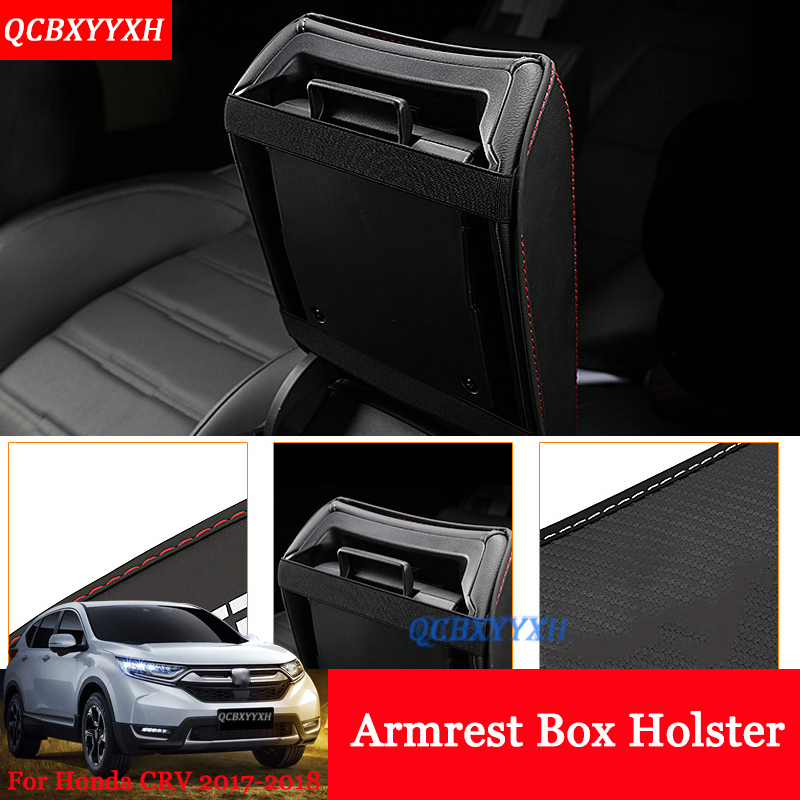 For Honda <font><b>CRV</b></font> CR-V 2017 2018 Car Armrest Pad Cover Leather Storage Protection Cushion Center Console Auto <font><b>Seat</b></font> Armrests Box Pads