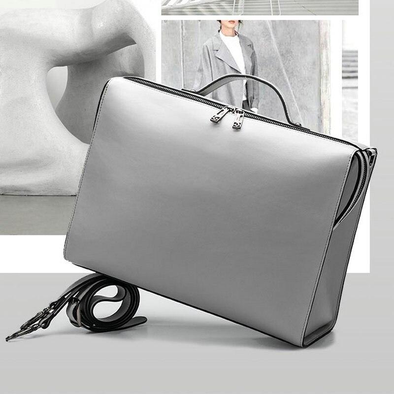 YINUO PU Leather Handbag High Capacity Shoulder Bag For 14inch Laptop Bag Briefcase Waterproof Detachable Summer Bag
