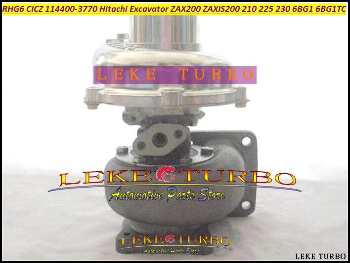 RHG6 CICZ 1144003770 114400-3770 VA570031 114400-3770 Turbo For HITACHI ZAXIS 200 210 225 230 ZAX200 EXCAVATOR 6BG1T 6BG1-TC