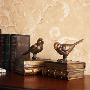 craft Home Secret European style of the ancient bird book by book stall book Home jewelry ornaments to study soft decoration