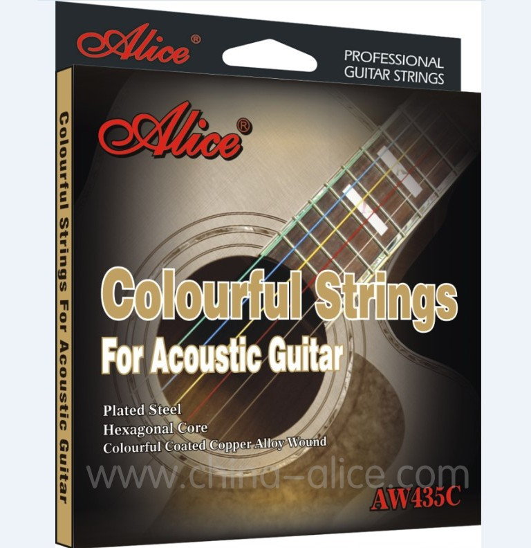 Acoustic Guitar Strings ALICE 011-052 Coloful Coated Steel Strings Set / Music Wire for Guitar 6pcs/set alice a203 replacement acoustic guitar strings set for folk guitar silver bronze 6 pcs