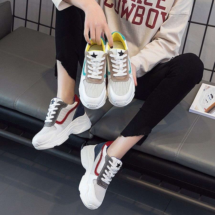 Polyvalentes Casual Respirant Blue Femmes Mixte Et Red Qualité Confortable De Mode green Marée Yellow Couleur Chaussures Accrue Haute Interne Nouveau AvZOwT