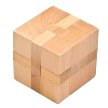 New Wooden Magic Cube Logic Puzzle Burr Puzzles Brain Teaser Intellectual Removing Assembling Toy