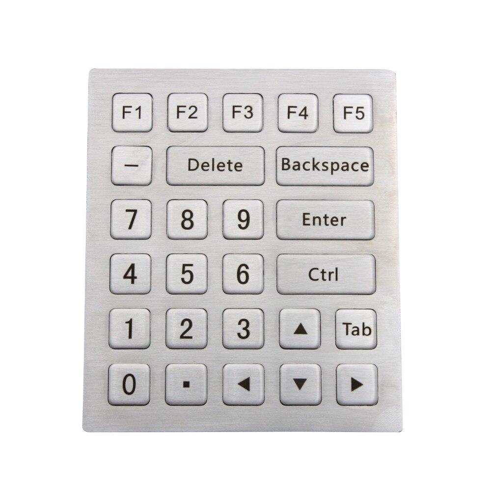 Metal Numeric keyboard Industrial keyboard Stainless steel keyboard ip65 kiosk metal rugged keyboard with 65 keys vandal proof stainless steel industrial keypad for ticket vending machine