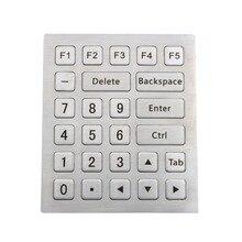 Metall Numerische tastatur Industrielle tastatur edelstahl tastatur