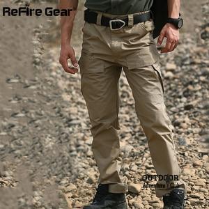 Image 4 - ReFire dişli Rip Stop pamuk su geçirmez taktik pantolon erkekler kamuflaj askeri kargo pantolon Man Multi cepler ordu savaş pantolon
