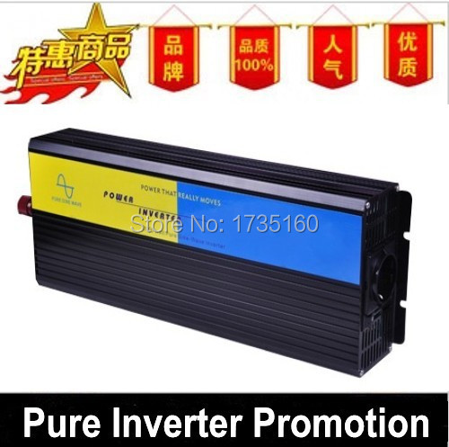 цена на 1500Watt 1500W 12V DC to 220V AC Pure Sine Wave CAR Power Invertor Converter 3000 Watt Peak