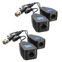 New 5 Pairs CCTV Coax BNC Video Power Balun Transceiver to CAT5e 6 RJ45 Connector