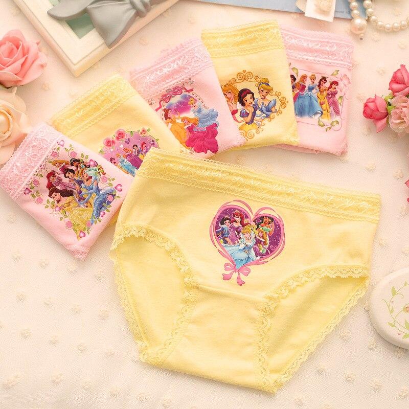12 Teil/los Prinzessin Unterwäsche 100% Baumwolle Baby Mädchen Unterwäsche Slips/höschen/innen Trägt (2-10 Jahre) Durchsichtig In Sicht