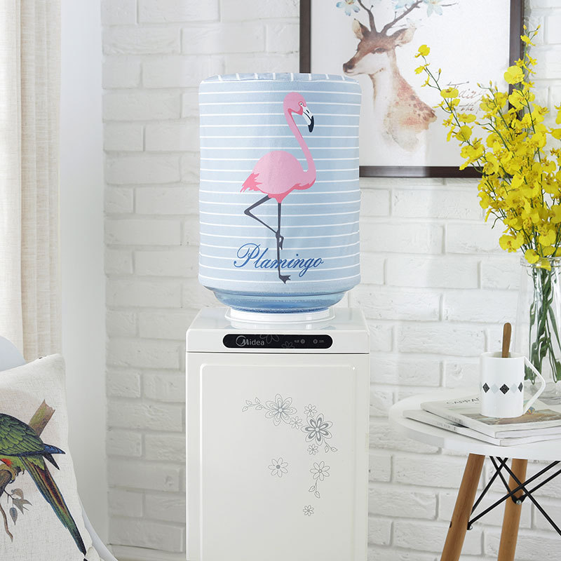 New! Printed Cartoon Animal Cloth Art Drinking Fountains Barrels Water Dispenser Dust Cover Household Merchandises Protector