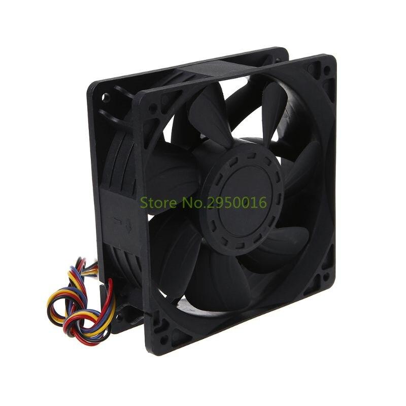 Cooling Fan 12038 12V 5A Dual Ball Bearing 4Pin Computer Server Case PFC1212DE