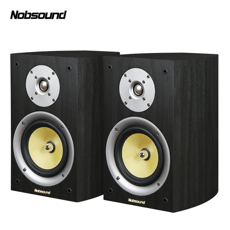 Nobsound VF301 Wood 100W Bookshelf Speakers 2.0 HiFi Column Sound Home Professional speaker