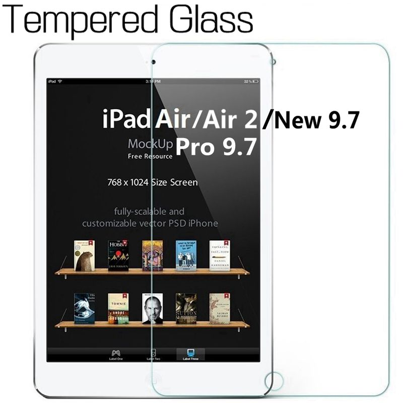 2.5D 9H Genuine Tempered Glass Screen Protector for iPad Pro 9.7 for iPad Air/Air 2 for iPad 9.7 2017 2018 Glass Screen ...