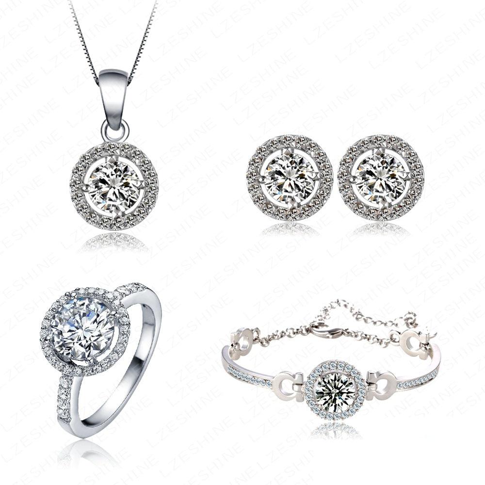 Luxury bridal Crystal Wedding Jewelry Sets with CZ zircon Party