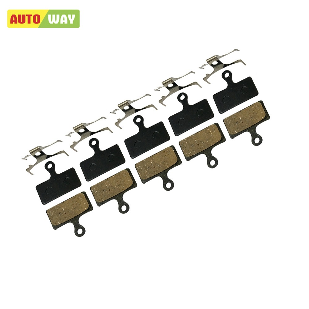 5 Pairs/lot Autoway MTB Brake Pads for Shimano XT Bicycle M785 M960 M615 Deore XT Bike Parts M985 M987 M988 M666 M675