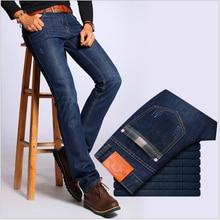 2016 Autumn New Fashion Brand Mens Jeans Men Elastic Denim Pants Casual Long Pants Male Trousers Clothing