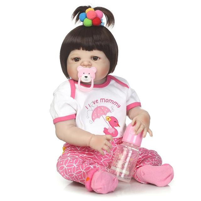 23 Inches 57CM Lifelike Reborn Dolls Handmade Realistic Newborn Baby Doll Gift For Girls Toys