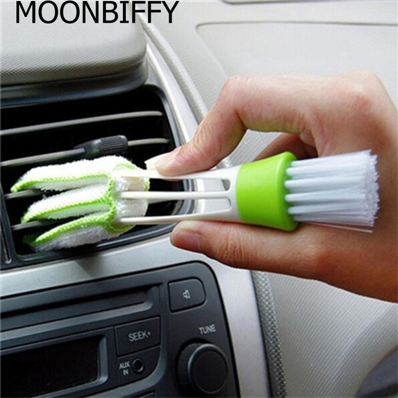 MOONBIFFY Dirt Duster Brush Useful Computer Keyboard Cleaning Brushes Fast and easy to use Microfibre Brush Hot Sale household chenille microfiber flexible duster dirt cleaning wash brush tool blue