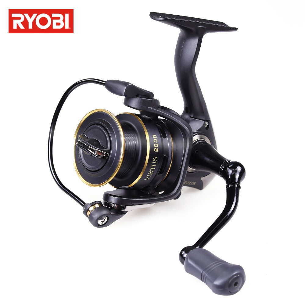 RYOBI VIRTUS 1000-6000 Spinning Reel 5.1:1/5.0:1 Metal Spool Max Drag Up To 7.5kg Lure Fishing Reel Smooth Fishing Line Reel цены