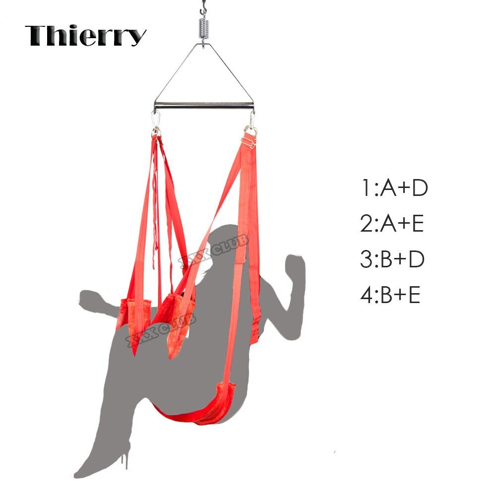 Thierry De Luxe Meubles de Sexe plus épais 2.7 kg Chaises Swing de Sexe Chaude Drôle Hanging Plaisir Amour Swing pour Les Couples Adulte de Sexe produits