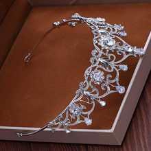 Qualidade novo vestido de noiva coroa tiara tres-pedaco de zircao brincos colar de casamento com acessorios femininos presente