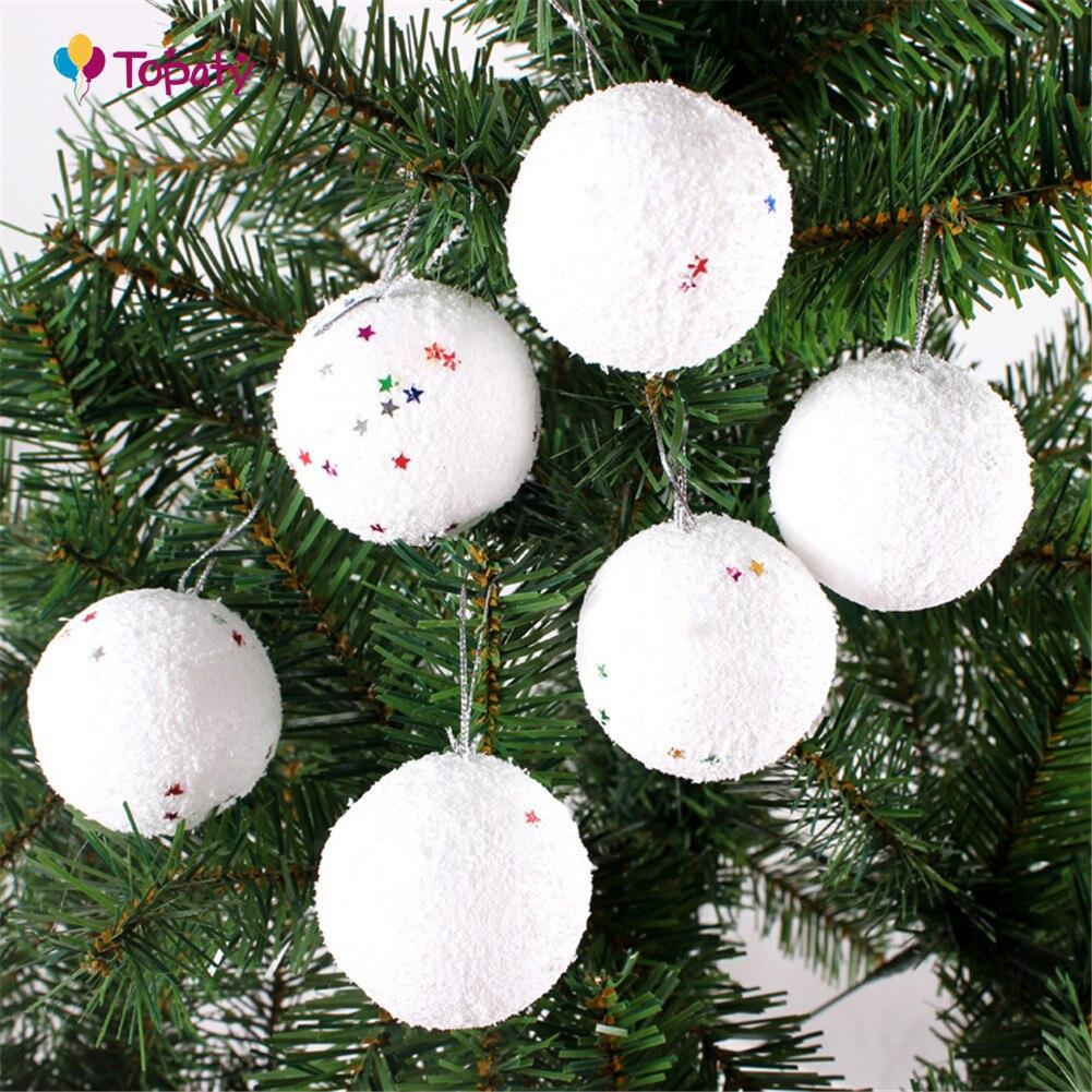 6 шт./лот моделирование пенополистирол пенопласт пены мяч белый авторские шары для DIY для рождественской вечеринки украшения поставки подарки