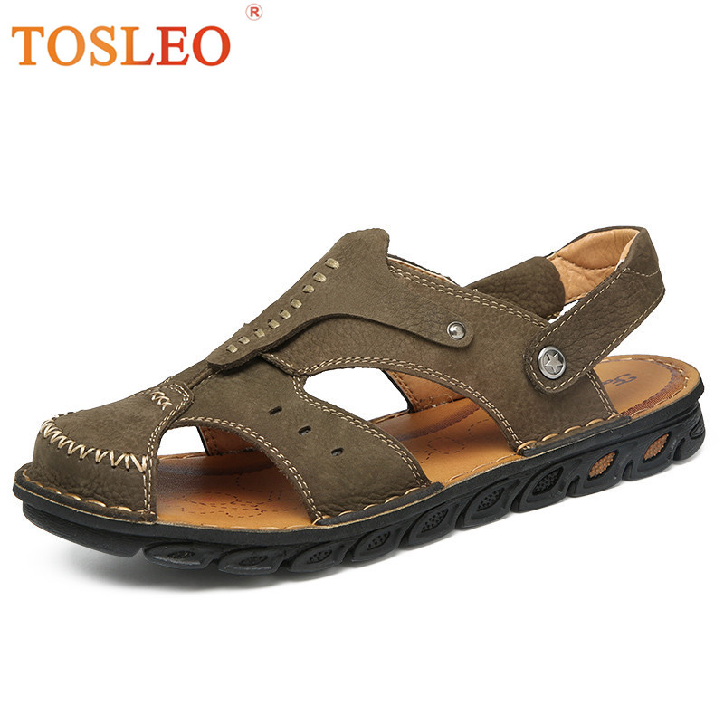 Handmade Men Sandals Comfortable Soft Leather Sandals Men High Quality 2018 Summer Shoes