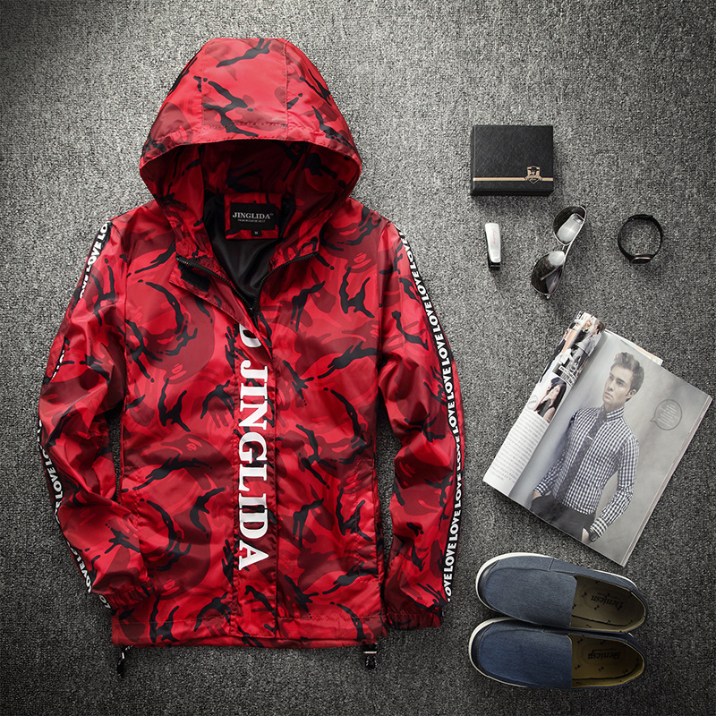 Men's Clothing Spring Winter Men Jackets Casual Zipper Thin Man Camouflage Jackets Camouflage Outdoors Jacket Men Waterproof