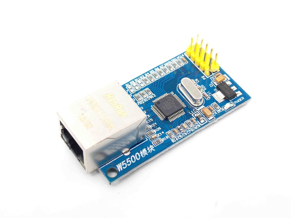 W5500 Ethernet network module hardware TCP IP 51 STM32 microcontroller program over W5100