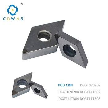 DCGT070202 DCGT 070204 dcgt11T302 dcgt 11T304 DCGT11T308 PCD CBN Diamond Inserts Internal Turning Tool Blade CNC Lathe Tools 2pcs vcgt110301 vcgt110304 vcgt160404 vcgt160408 pcd cbn cnc diamond inserts blade turning insert for lathe tools