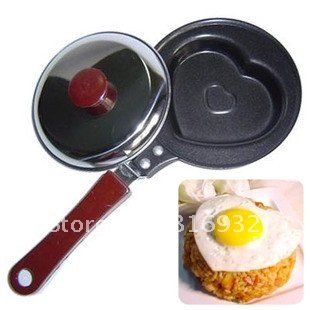 D3 Mini lovely Heart-Shaped Egg Fry Frying pan, cook pan + cover, Free Shipping